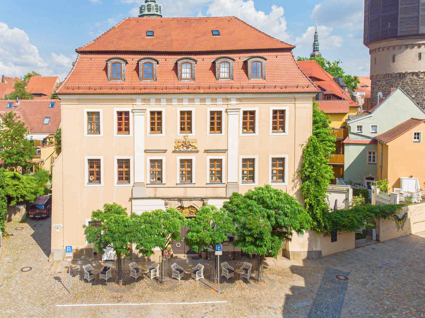 Luftaufnahme Gersdorffsches Palais von vorn