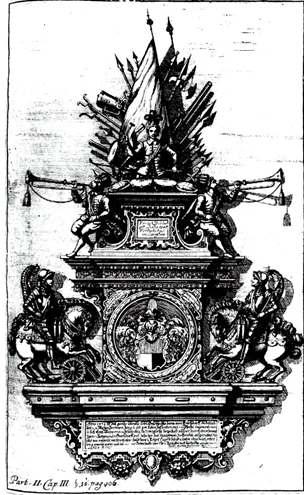 Wappenmonument als Lithographie von 1818